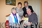 A MIRACLE LIFE: Today (Thursday) author Conor O'Sullivan pictured with his wife Ann (centre) and whose mother Eileen (left) hails from Lisselton will launch his story of spine cancer survival against all the odds in the Plaza Centre at 3pm.  Also pictured is John McGrath creative writer who helped Conor write the book.