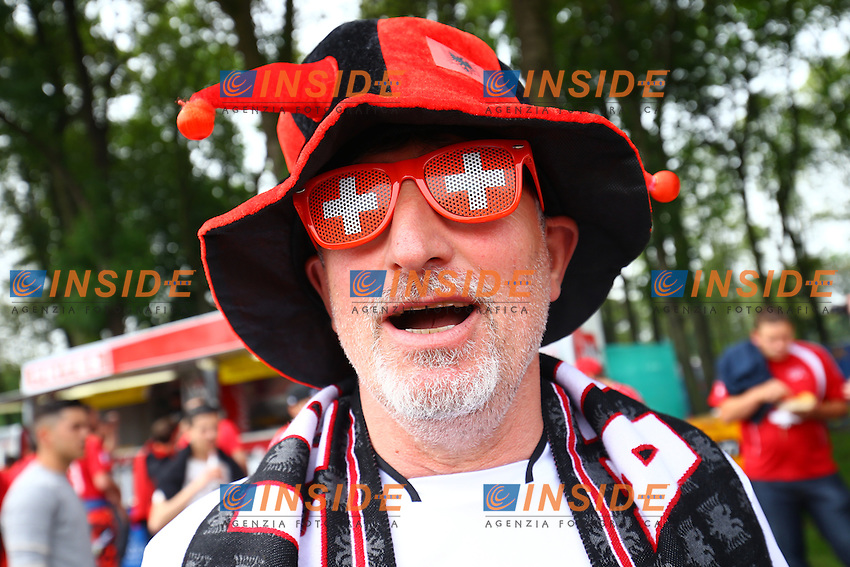 Tifosi Albania Supporters <br /> Lens 11-06-2016 Stade Bollaert-Delelis football Euro2016 Albania - Switzerland  / Albania - Svizzera Group Stage Group A. Foto Panoramic / Insidefoto