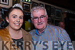 Dan Tim O'Sullivan is welcomed to The Red Fox Inn Glenbeigh by Glenbeigh Festival Queen, Róisín Riordan, for the celebration of the awarding to him of Freedom of the City of London