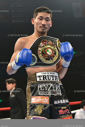 Ryosuke Iwasa (JPN),<br /> DECEMBER 6, 2013 - Boxing :<br /> Ryosuke Iwasa of Japan poses with his champion belt after winning the OPBF bantamweight title bout at Ryogoku Kokugikan in Tokyo, Japan. (Photo by Hiroaki Yamaguchi/AFLO)