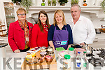 International Women's day cookery demonstration at Ballyseedy Garden Centre on Wednesday by Lizzy Lyons from Lizzy's Little Kitchen in Listowel From left: Marion O'Mahony, Ballyseedy Garden Centre, Sharon Noonan, Lizzy Lyons and James Vaughan.