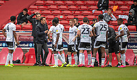 7th July 2020; City Ground, Nottinghamshire, Midlands, England; English Championship Football, Nottingham Forest versus Fulham; Fulham Manager Scott Parker instructs his players at the drinks break