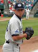 August 31, 2003:  Pitcher Ian Ostlund of the West Michigan White Caps, Class-A affiliate of the Detroit Tigers, during a Midwest League game at Oldsmobile Park in Lansing, MI.  Photo by:  Mike Janes/Four Seam Images