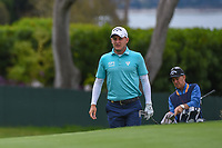 Emiliano Grillo (ARG) approaches the green on 14 during round 1 of the 2019 US Open, Pebble Beach Golf Links, Monterrey, California, USA. 6/13/2019.<br /> Picture: Golffile | Ken Murray<br /> <br /> All photo usage must carry mandatory copyright credit (© Golffile | Ken Murray)