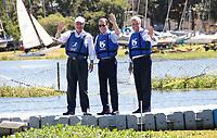 SAO PAULO, SP - 22.03.2017 - dia-agua - O Governador de Sao Paulo, Geraldo Alckmin (e) acompanhado do prefeito de Sao Paulo Joao Doria, (c)  participam da comemora&ccedil;&atilde;o do dia Mundial da &iexcl;gua na manha desta quarta-feira (22) na Represa do Guarapiranga, zona sul da Capital. O evento de preserva&ccedil;&atilde;o dos mananciais batizado de Nossa Guarapiranga teve a presen&Aacute;a de outras autoridades municipais e estaduais. <br /> <br /> (Foto: Fabricio Bomjardim / Brazil Photo Press)