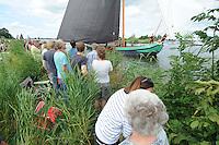 ZEILEN: GROU: Pikmar, De Tynje, Wide Ie, 30-07-2016, SKS skûtsjesilen, openingswedstrijd, ©foto Martin de Jong