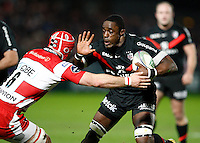 Photo: Richard Lane/Richard Lane Photography. Gloucester Rugby v Stade Toulouse. Heineken Cup. 20/01/2012. Yannick Nyanga of Toulouse attacks.
