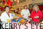Kathleen O'Sullivan, Dolly McAuliffe and Margaret Lenihan from Brosna enjoying the Garvey Castleisland food fayre on Friday
