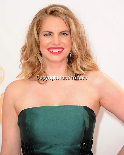 Anna Chlumsky arrives at the 65th Primetime Emmy Awards at Nokia Theatre on Sunday Sept. 22, 2013, in Los Angeles.<br /> Credit: MediaPunch/face to face<br /> - Germany, Austria, Switzerland, Eastern Europe, Australia, UK, USA, Taiwan, Singapore, China, Malaysia, Thailand, Sweden, Estonia, Latvia and Lithuania rights only -