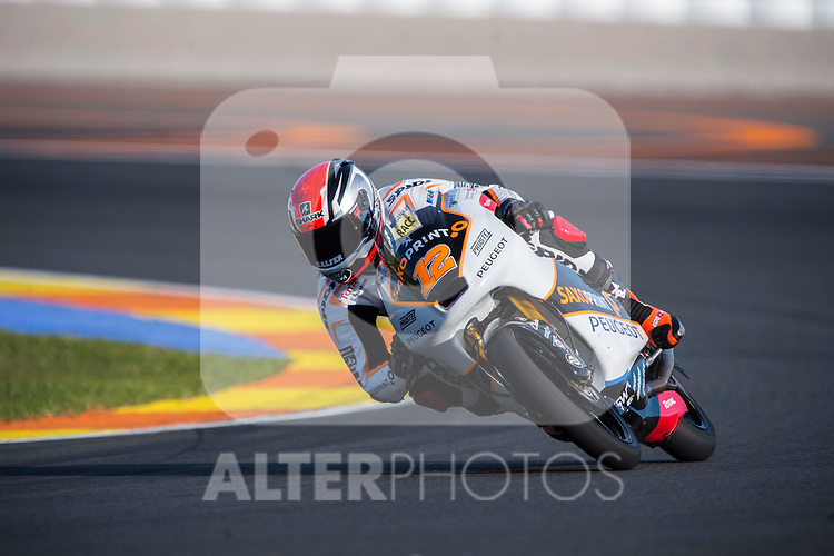 VALENCIA, SPAIN - NOVEMBER 11: Albert Arenas during Valencia MotoGP 2016 at Ricardo Tormo Circuit on November 11, 2016 in Valencia, Spain