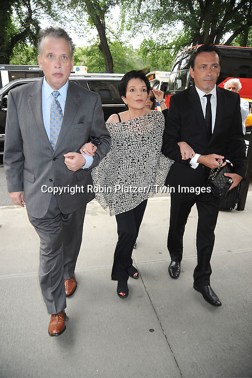 Billy Stritch and Liza Minnelli  attends Marvin Hamlisch's funeral on August 14, 2012 .at Temple Emanuel in New York City.
