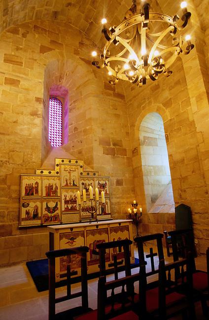 La chapelle romane du XIIIe siecle dans le parador de Siguenza. *** Roman chapel (XIIIc.) in the Siguenza parador, Castilla.