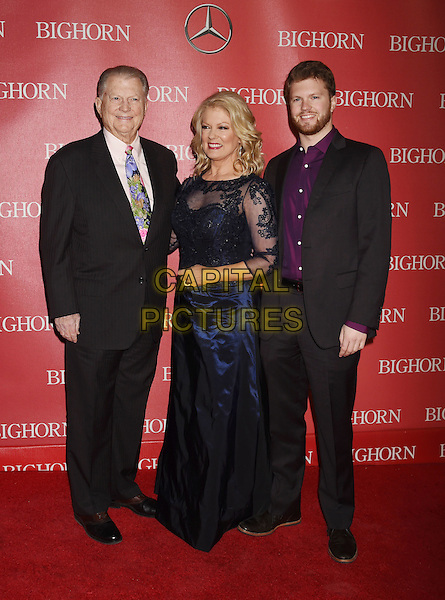 PALM SPRINGS, CA - JANUARY 02: (L-R) Producer Burt Sugarman, TV personality Mary Hart and son Alec Jay Sugarman attend the 27th Annual Palm Springs International Film Festival Awards Gala at Palm Springs Convention Center on January 2, 2016 in Palm Springs, California.<br /> CAP/ROT/TM<br /> &copy;TM/ROT/Capital Pictures