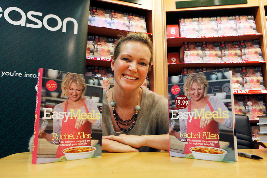 "*** NO FEE PIC ***.01/10/2011.Eason Ireland's leading retailer of books stationery, magazines & lots more hosted a book sigining by best selling cookery writer & TV cook Rachel Allen who signed copies of her new book "" Easy Meals"" for fans at Eason O' Connell St, Dublin..Photo: Gareth Chaney Collins"