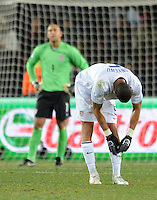 Oguchi Onyewu of USA looks dejected. Brazil defeated USA 3-2 in the FIFA Confederations Cup Final at Ellis Park Stadium in Johannesburg, South Africa on June 28, 2009.