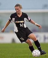 Joanne Peters of the Power. The Boston Breakers defeated the NY Power 3-2 on 8/01/03 at Mitchel Athletic Complex, Uniondale, NY..
