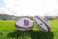 A general view of European Rugby Challenge Cup branded rugby balls. European Rugby Challenge Cup Quarter Final, between Bath Rugby and CA Brive on April 1, 2017 at the Recreation Ground in Bath, England. Photo by: Patrick Khachfe / Onside Images