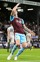 Burnley's Ashley Barnes celebrates scoring his side's third goal <br /> <br /> Photographer Alex Dodd/CameraSport<br /> <br /> UEFA Europa League - Europa League Qualifying Round 2 2nd Leg - Burnley v Aberdeen - Thursday 2nd August 2018 - Turf Moor - Burnley<br />  <br /> World Copyright © 2018 CameraSport. All rights reserved. 43 Linden Ave. Countesthorpe. Leicester. England. LE8 5PG - Tel: +44 (0) 116 277 4147 - admin@camerasport.com - www.camerasport.com