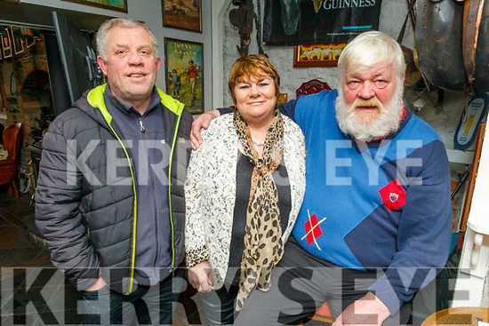 Tony Blake, Karen Lonergan and Roger Gutrie in Linnanes Bar enjoying the Gold Cup on Friday.