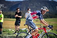 Niklas Eg (DEN/Trek-Segafredo) at the gravel section atop the Montée du plateau des Glières (HC/1390m)<br /> <br /> Stage 18 from Méribel to La Roche-sur-Foron (175km)<br /> <br /> 107th Tour de France 2020 (2.UWT)<br /> (the 'postponed edition' held in september)<br /> <br /> ©kramon