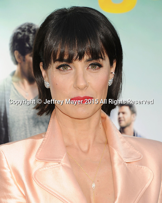 WESTWOOD, CA - JUNE 01: Actress Constance Zimmer arrives at the 'Entourage' - Los Angeles Premiere at Regency Village Theatre on June 1, 2015 in Westwood, California.