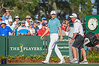 Jordan Spieth (USA) makes his way to the 10th tee during round 1 of The Players Championship, TPC Sawgrass, at Ponte Vedra, Florida, USA. 5/10/2018.<br /> Picture: Golffile | Ken Murray<br /> <br /> <br /> All photo usage must carry mandatory copyright credit (&copy; Golffile | Ken Murray)