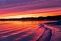 Sunset on Wellfleet Harbor, Cape Cod, Massachusetts, USA.
