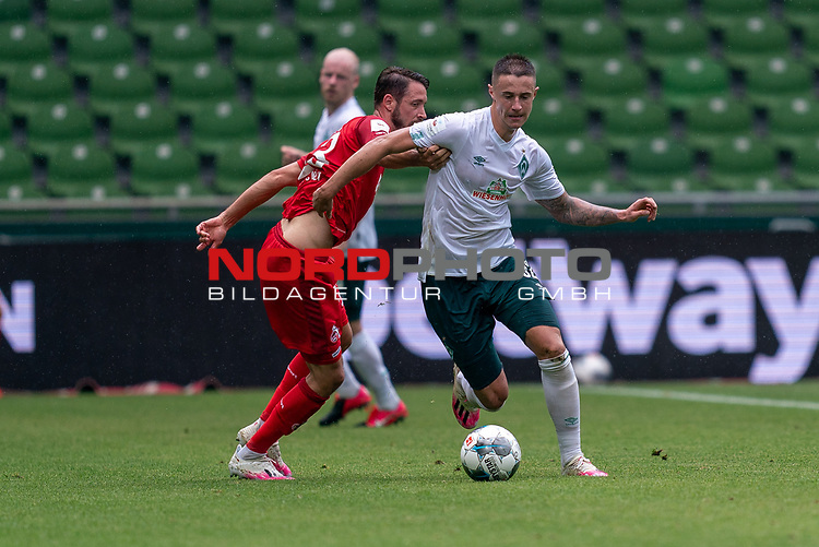 Marco Friedl (Werder Bremen #32)<br /> <br /> <br /> Sport: nphgm001: Fussball: 1. Bundesliga: Saison 19/20: 34. Spieltag: SV Werder Bremen vs 1.FC Koeln  27.06.2020<br /> <br /> Foto: gumzmedia/nordphoto/POOL <br /> <br /> DFL regulations prohibit any use of photographs as image sequences and/or quasi-video.<br /> EDITORIAL USE ONLY<br /> National and international News-Agencies OUT.