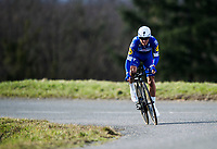 Picture by Alex Broadway/SWpix.com - 07/03/2018 - Cycling - 2018 Paris Nice - Stage Four -  La Fouillouse to Saint-Etienne - Julian Alaphilippe of Quick Step Floors rides in the Time Trial.<br /> <br /> NOTE : FOR EDITORIAL USE ONLY. THIS IS A COPYRIGHT PICTURE OF ASO. A MANDATORY CREDIT IS REQUIRED WHEN USED WITH NO EXCEPTIONS to ASO/Alex Broadway MANDATORY CREDIT/BYLINE : ALEX BROADWAY/ASO
