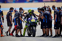 Valentino Rossi Yamaha celebrates his third place <br /> Jerez 26/07/2020 Moto Gp Andalucia 2020 / Spain<br /> Photo Yamaha Press Office / Insidefoto <br /> EDITORIAL USE ONLY