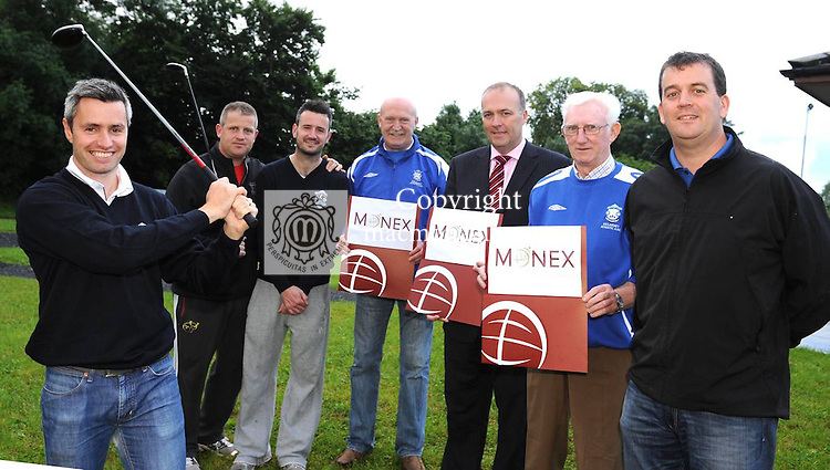 Launching the Killarney Athletic Soccer Club golf claasic that will take place at  the Lackabane Course, Killarney on August 11th were from left, Paul O'Neill, Brian O'Regan, Denis O'Neill, Tom Tobin, Chairman, David Byrne, Monex, sponsor, Don O'Donoghue and Maurice O'Donoghue. Picture: Eamonn Keogh ( MacMonagle, Killarney)