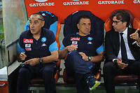 Maurizio Sarri Giuntoli Calzona during the  italian serie a soccer match, AS Roma -  SSC Napoli       at  the Stadio Olimpico in Rome  Italy , 14 ottobre 2017