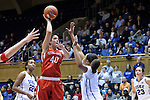 28 November 2014: Stony Brook's Alyssa Coiro (40). The Duke University Blue Devils hosted the Stony Brook University Seahawks at Cameron Indoor Stadium in Durham, North Carolina in a 2014-15 NCAA Division I Women's Basketball game. Duke won the game 72-42.