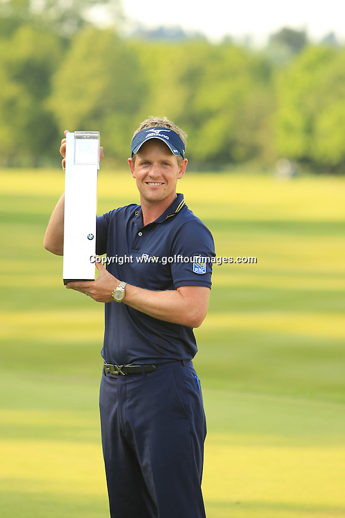 Luke Donald is the 2012 BMW PGA Champion. Luke retained his title with a score of 273, 15 under par.Justin Rose and Paul Lawrie were joint second on 11 under par. The 2012 BMW PGA Championships played over the West Course, Wentworth, Surrey, England from 24th to 27th May 2012: Picture Stuart Adams www.golftourimages.com:  27th May 2012