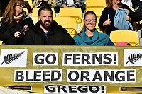 Fans during the International Football - Football Ferns v Japan  at Westpac Stadium, Wellington, New Zealand on Sunday 10 June 2018.<br /> Photo by Masanori Udagawa. <br /> www.photowellington.photoshelter.com
