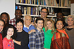 """Rehearsals for Ragtime starring One Life To Live Kerry Butler """"Claudia Reston"""" (green), Dick Latessa (Edge of Night) (blue), Matt Cavanaugh (also As The World Turns """"Adam Munson"""") (plaid), General Hospital Tyne Daly """"Caroline"""" (2nd R), All My Children Norm Lewis """"Keith McLean"""" & now Scandal (back L), As The World Turns Lea Salonga """"Lien Hughes"""" (multi), Young and the Restless Howard McGillan """"Snapper's brother - Greg Foster""""(tan back), Phillip Boykin (bk R) and Jose Llana (R), Patina Miller (L back) and Lilla Crawford (little) on February 11, 2013 for a concert at Avery Fisher Hall, New York City, New York on Monday February 18, 2013. (Photo by Sue Coflin/Max Photos)"""