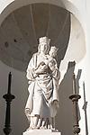 Statue Maria Santisima de la Almudena, catedral de Nuestra Señora de la Almudena, cathedral church, Madrid, Spain