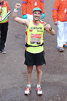Gwilym Lee at the finish line on The Mall at the 2017 London Marathon, London, UK. <br /> 23 April  2017<br /> Picture: Steve Vas/Featureflash/SilverHub 0208 004 5359 sales@silverhubmedia.com