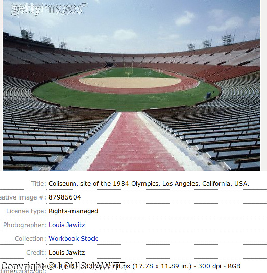 Coliseum, site of the 1984 Olympics, Los Angeles, California, USA
