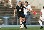 27 September 2009: Wake Forest's Bianca D'Agostino (10) and North Carolina's Ali Hawkins (76). The University of North Carolina Tar Heels defeated the Wake Forest University Demon Deacons 4-0 at Fetzer Field in Chapel Hill, North Carolina in an NCAA Division I Women's college soccer game.