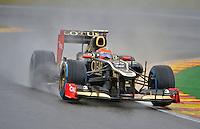 SPA FRANCORCHAMPS, BELGICA, 31 AGOSTO 2012  - F1 - GP DA BELGICA - O piloto Romain Grosjean da equipe Lotus durante segundo dia de treinos livres para o GP da Belgica que acontece no proximo domingo. (FOTO: PIXATHLON / BRAZIL PHOTO PRESS).