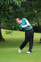 Declan Reidy (Co. Sligo) on the 3rd tee during round 1 of The Mullingar Scratch Cup in Mullingar Golf Club on Sunday 3rd August 2014.<br /> Picture:  Thos Caffrey / www.golffile.ie
