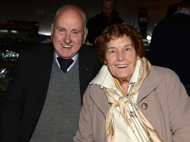 Tom Minogue and Annie Clare at the Ardee Town Council reunion for past members held in Ardee Castle. Photo:Colin Bell/pressphotos.ie