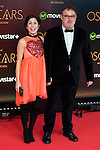 Maria Arellano and Pablo Carbonell attends to the photocall before the cocktail of the night of the Oscar of Movistar+ at Gran Teatro Principe Pio in Madrid. February 28, 2016. (ALTERPHOTOS/BorjaB.Hojas)