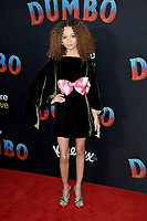 """LOS ANGELES, CA. March 11, 2019: Nico Parker at the world premiere of """"Dumbo"""" at the El Capitan Theatre.<br /> Picture: Paul Smith/Featureflash"""