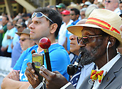 June 18th 2017, The Kia Oval, London, England;  ICC Champions Trophy Cricket Final; India versus Pakistan; A spectator films the opening ceremony on his phone