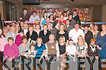DOUBLE CELEBRATIONS: Stephen Healy and his daughter Gemma (seated centre), Upper Castle St., Tralee, celebrated their 50th and 21st birthdays in the Grand Hotel on Friday night with many family and friends.   Copyright Kerry's Eye 2008