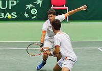 01-02-14,Czech Republic, Ostrava, Cez Arena, Davis Cup Czech Republic vs Netherlands, ,  Haase/Rojer(NED)   <br /> Photo: Henk Koster