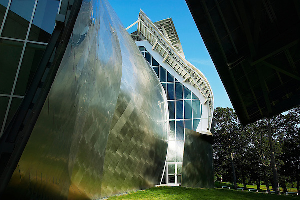 Exterior view of the Frank Gehry designed Richard B. Fisher Center for the Performing Arts at Bard College in Annondale-on-Hudson, NY.