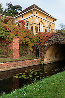 Neumarks Garten mit Eisenhart, Parkanlage Wörlitzer Garten, Sachsen-Anhalt, Deutschland, Europa, UNESCO-Weltkulturerbe<br /> Neumark's Garden and Eisenhart, Wörlitz Gardens, Saxony-Anhalt, Germany, Europe, UNESCO-World Heritage